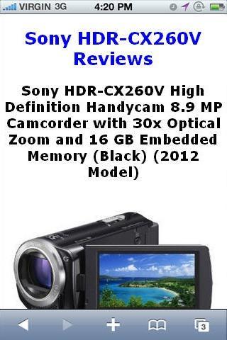HDRCX260V Camcorder Reviews