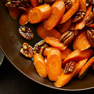 Glazed Carrots with Pecans.