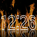 Fire Clock Live Wallpaper icon