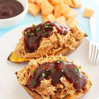 3-Ingredient BBQ Stuffed Sweet Potatoes.