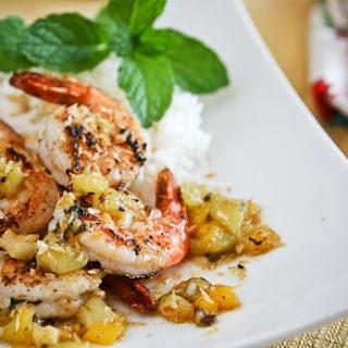 Sautéed Shrimp with Warm Tropical Fruit Salsa
