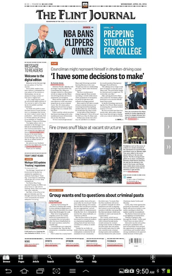 Flint Journal- screenshot