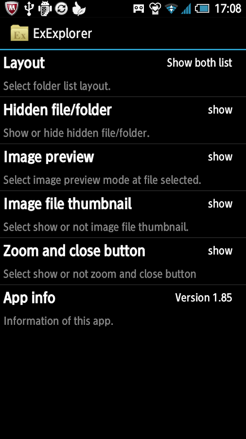 Ex Explorer :dual file manager- screenshot
