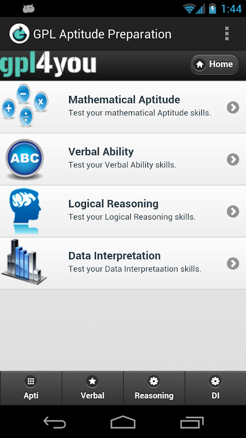 Aptitude Test Preparation- screenshot
