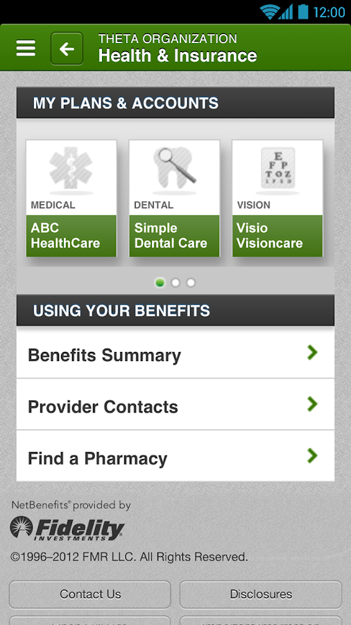 NetBenefits - screenshot