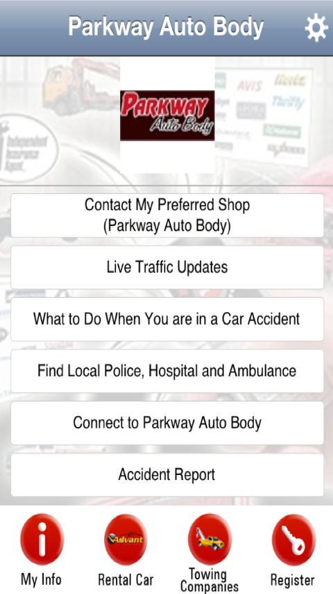 Parkway Auto Body App- screenshot