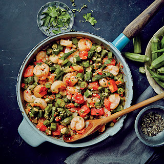 Sautéed Shrimp and Okra.