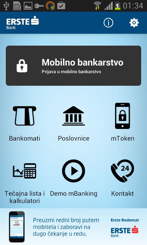 Erste mBanking - screenshot
