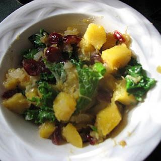 Cranberry, Squash, and Kale Bowl
