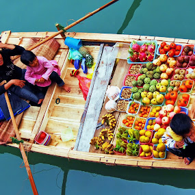 floating vegetables store by Dan Baciu - Food & Drink Fruits & Vegetables ( raw, thailand, cat ba, ocean, beauty, floating village, local market, colored, halong bay, fresh fruites, meal, vegetables store, vedgetable, colors, fruits, vegetables, vietnam, health, fresh vegetables, vegan, market, food, healthy food, fresh fruiits, raw food, colorful, mood factory, vibrant, happiness, January, moods, emotions, inspiration,  )
