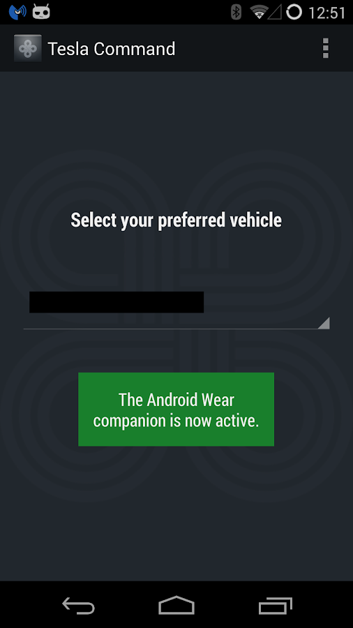Tesla Command for Android Wear - screenshot