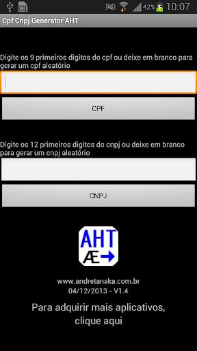 Cpf Cnpj Generator AHT
