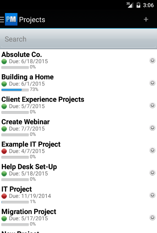 Project Management Software- screenshot