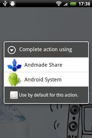 Andmade Share- screenshot
