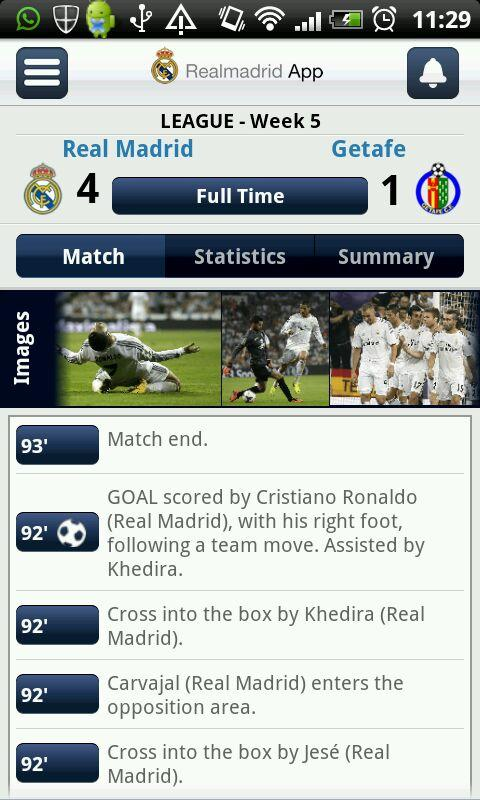 Real Madrid App - screenshot