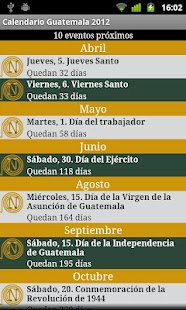 Calendario Feriados Guatemala - screenshot thumbnail