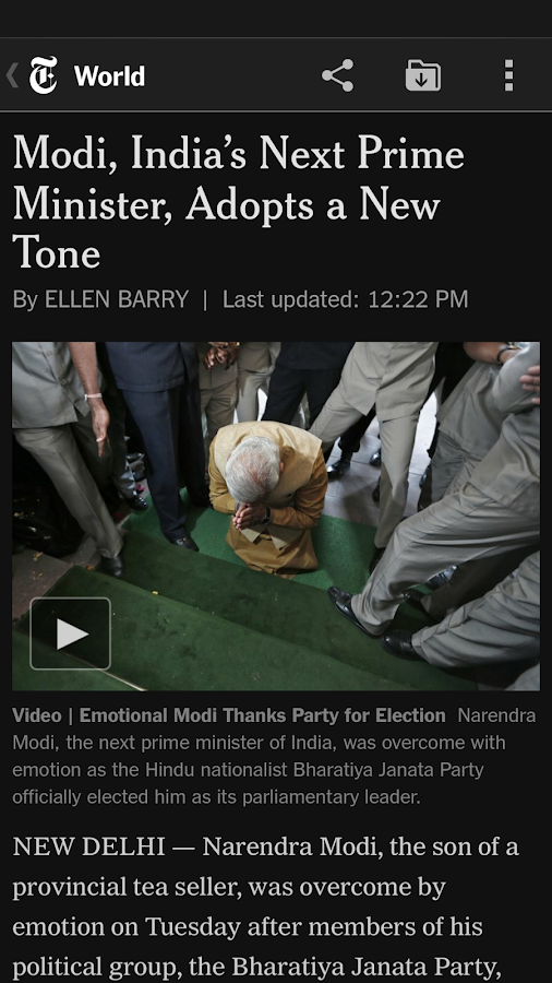 NYTimes - Breaking News - screenshot