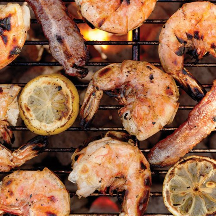 Grilled Shrimp and Bacon with Lemons Recipe