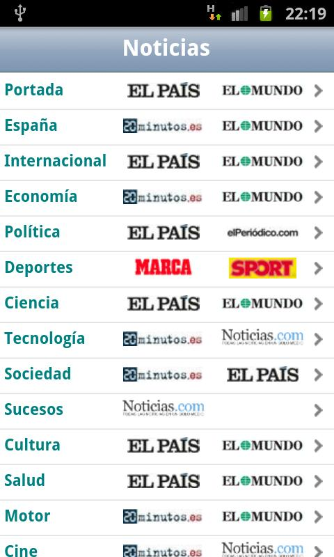 Noticias android apps op google play for App noticias android