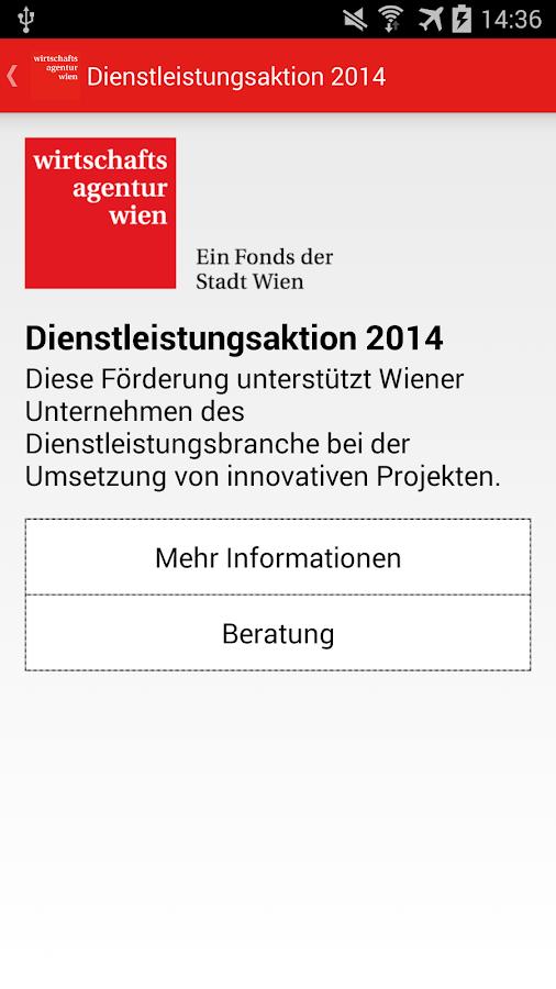 Förderguide Wirtschaftsagentur- screenshot