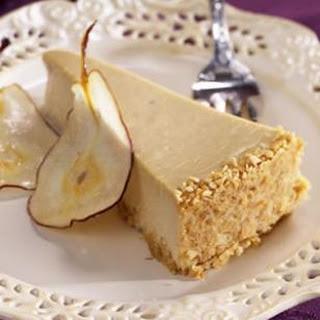 Pear & Ginger Cheesecake.