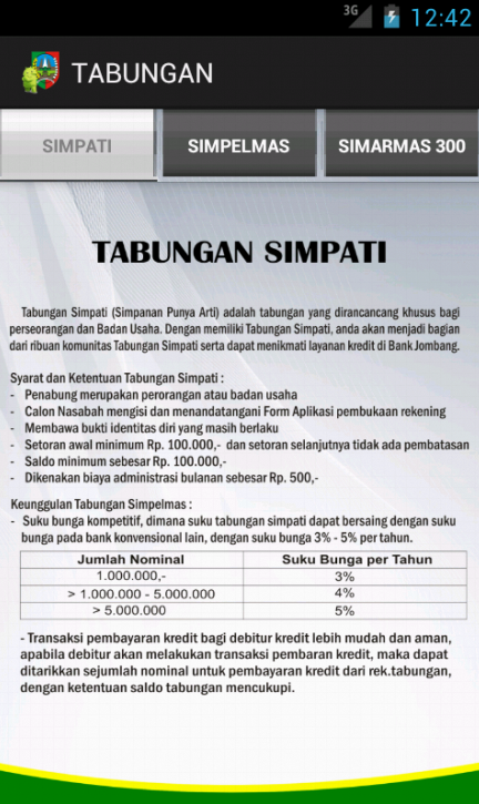 Bank Jombang- screenshot