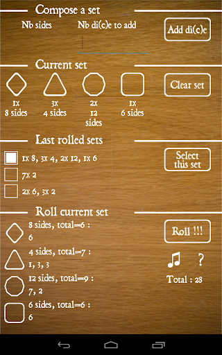 Shuffle Roll dice sets