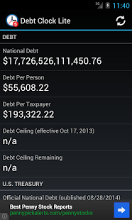 Debt Clock Lite- screenshot thumbnail