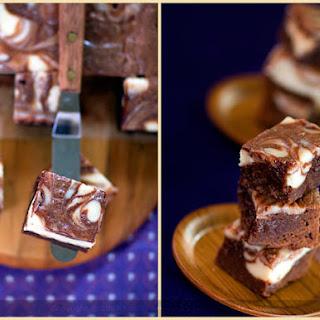 Cheesecake-Marbled Brownies.