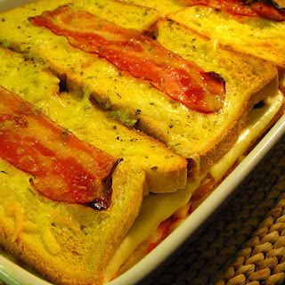 Ham, Cheese, and Bread Casserole