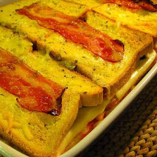 Ham, Cheese, and Bread Casserole.