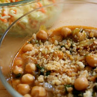 Chickpea Soup with Toasted Breadcrumbs