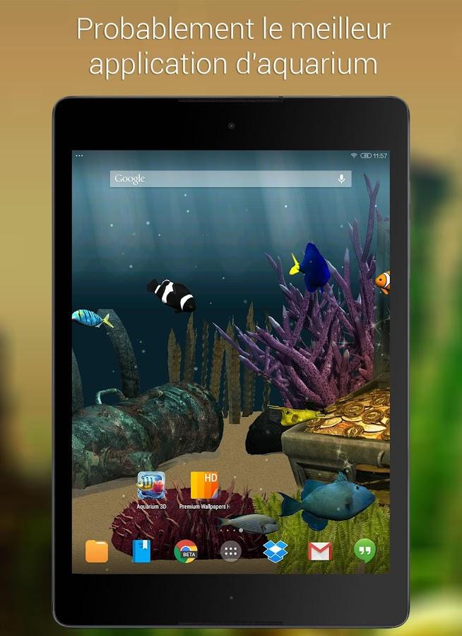 aquarium fond d 233 cran anim 233 applications android sur play