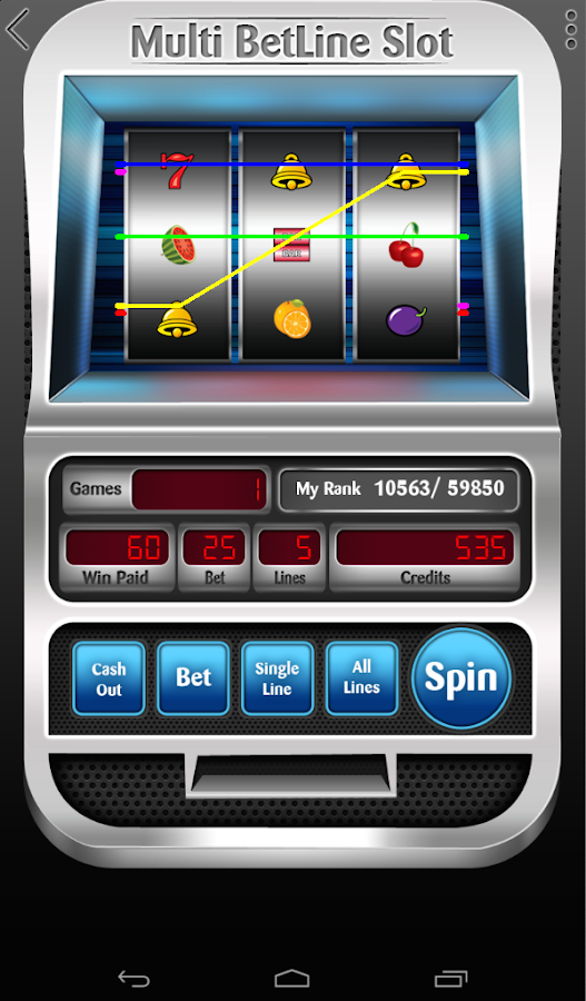 Multi BetLine Slot Machine - screenshot
