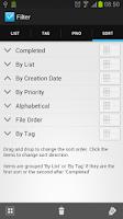 Screenshot of Simpletask Cloudless