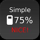 Nice Simple Battery (Widget) icon