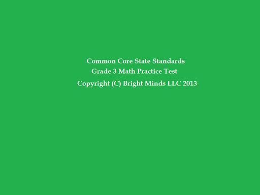 Common Core 3rd Grade Math