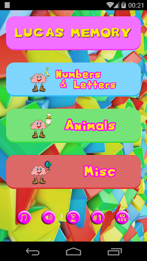 Lucas' Memory Game
