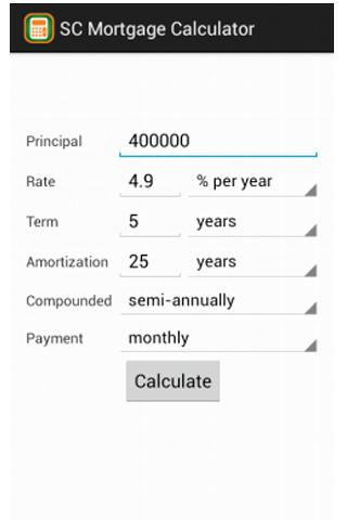 TD Mortgage Calculator