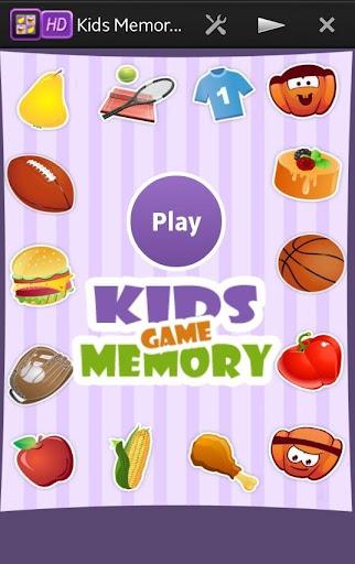 Food Sports Memory Game