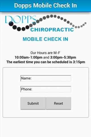 Dopps Mobile Check-In