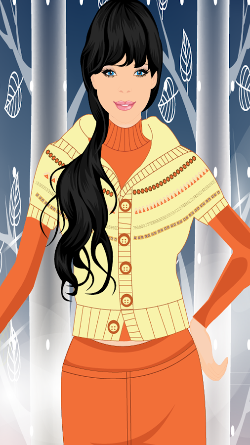 Chic Winter Dresses Girl Game - screenshot