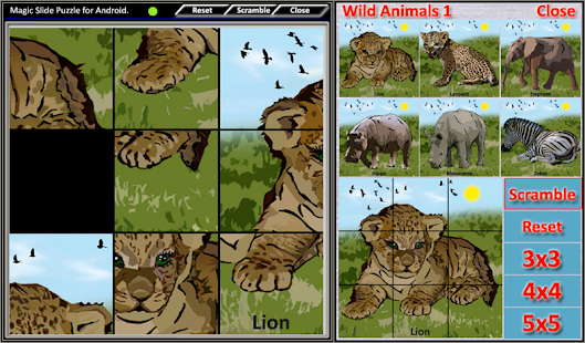 Magic Slide Puzzle W.Animals 1 Screenshot 1