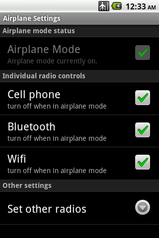 Airplane Mode Modifier - screenshot