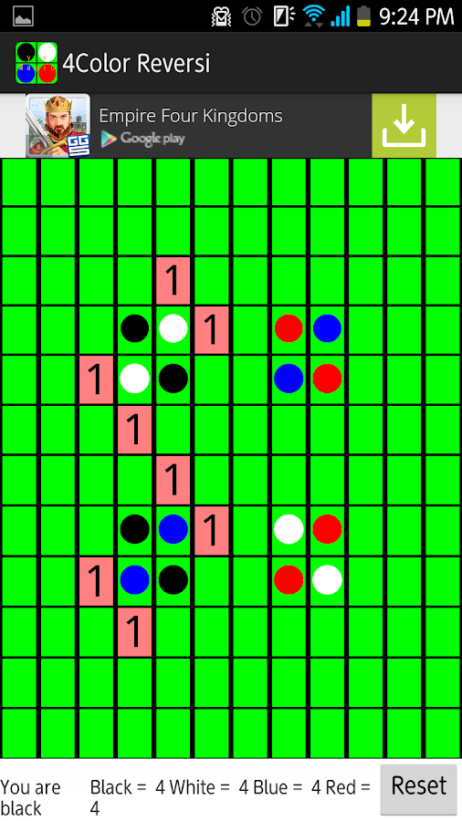 4Color Reversi- screenshot