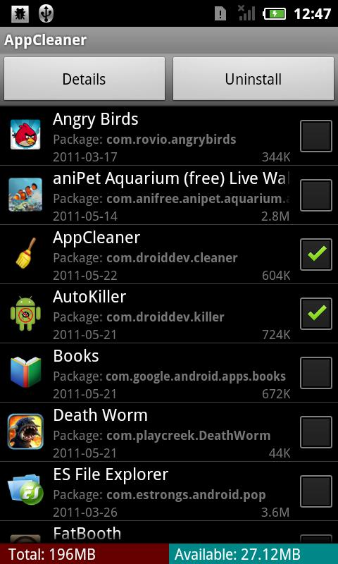 App Uninstaller, Cache Cleaner - screenshot