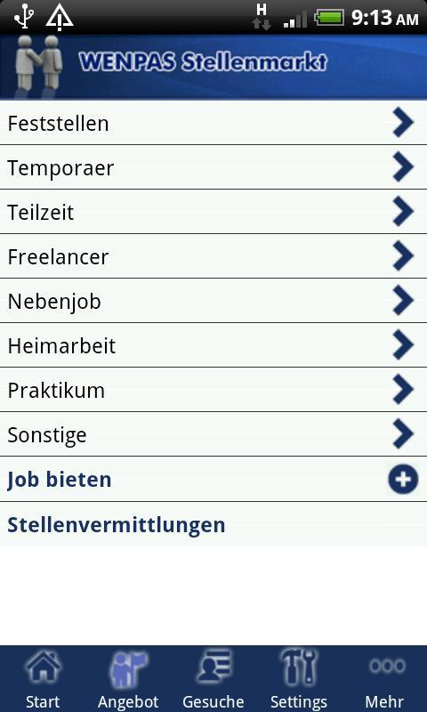 Wenpas Stellenmarkt - Jobsuche- screenshot