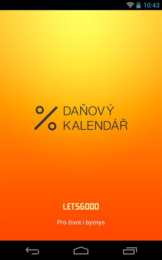 Daňový kalendář 2014- screenshot