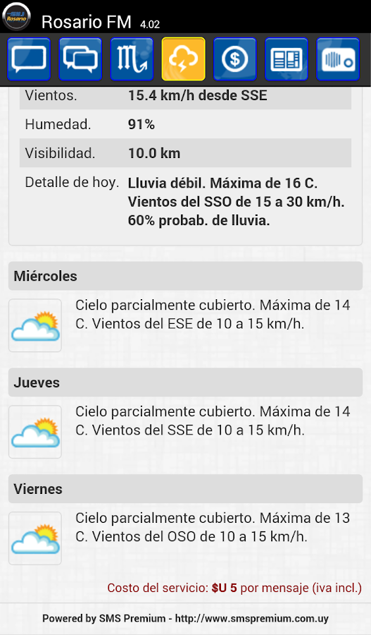 Rosario FM Colonia- screenshot