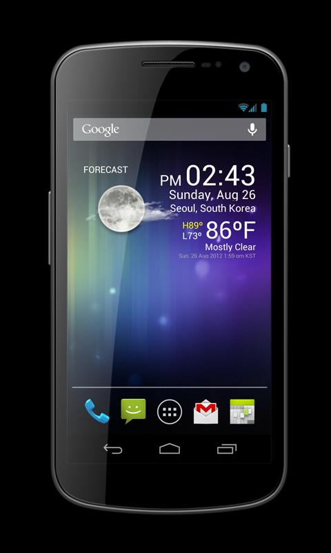 Weather Clock Widget - screenshot